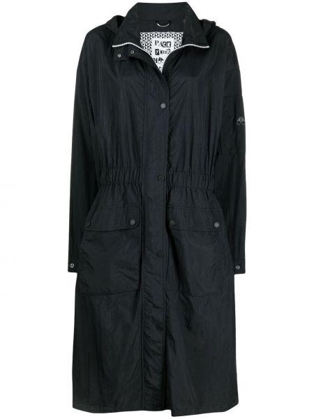 Черное пальто классическое с капюшоном на молнии Moose Knuckles
