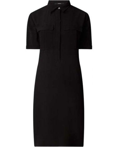 Czarna sukienka mini rozkloszowana z wiskozy Someday