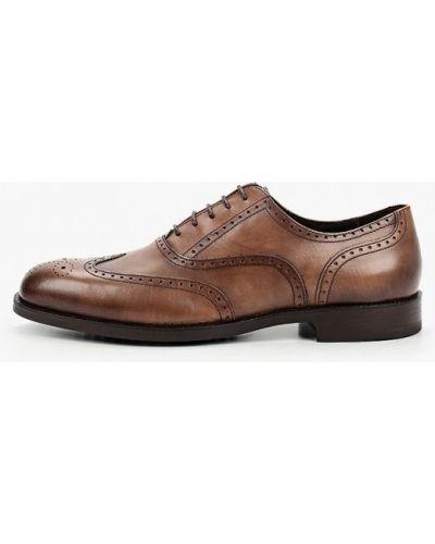Коричневые кожаные туфли Pazolini