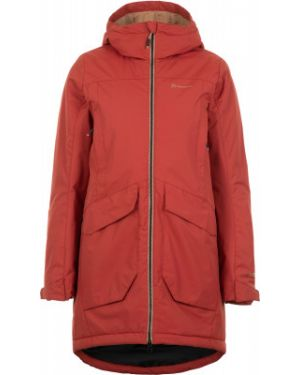 Теплая красная нейлоновая куртка с капюшоном на молнии Outventure