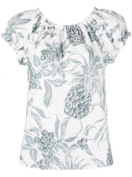 Белая блузка с короткими рукавами с круглым вырезом See By Chloé