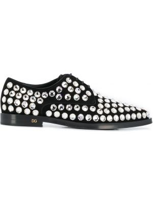 Дерби черный для обуви Dolce & Gabbana