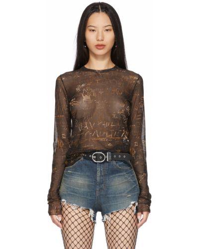 Черная футболка с воротником Jean Paul Gaultier