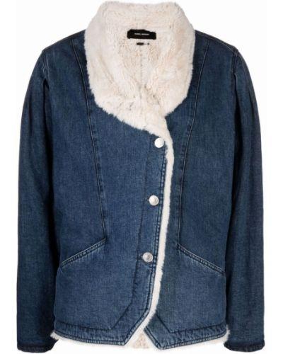 Синяя хлопковая куртка Isabel Marant