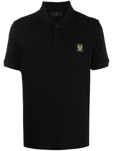 Czarna koszula krótki rękaw bawełniana Belstaff