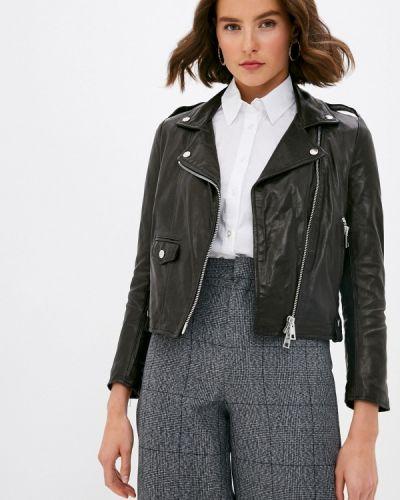 Кожаная черная кожаная куртка Imperial