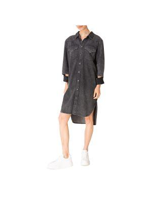Sukienka mini materiałowa - szara Diesel