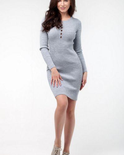 Акриловое платье - серое Happychoice