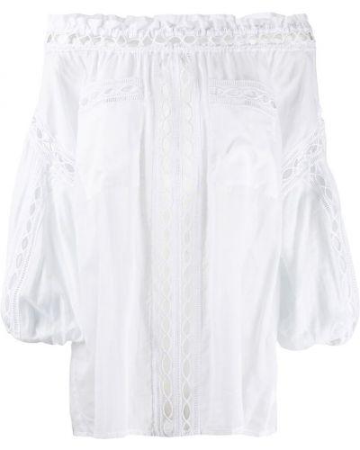 Блузка с открытыми плечами с вышивкой прозрачная Charo Ruiz