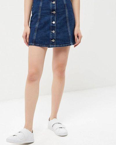 Джинсовая юбка синяя итальянский Phard