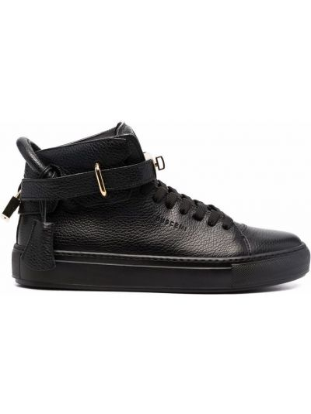 Czarne buty sportowe skorzane Buscemi