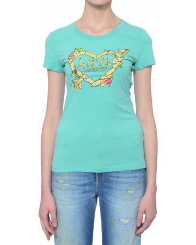 Бирюзовая футболка Love Moschino