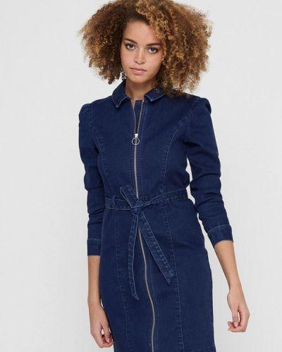 Синее джинсовое платье Only