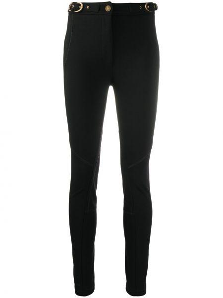 Черные брюки с карманами на молнии Versace Jeans Couture