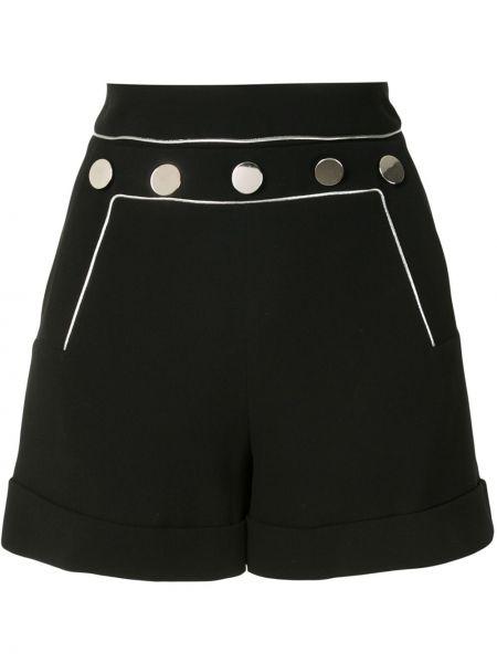 Черные шорты с карманами с отворотом Paule Ka