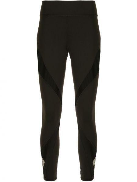 Czarne legginsy z nylonu Michi
