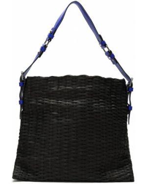 Плетеная черная сумка-тоут Mara Mac