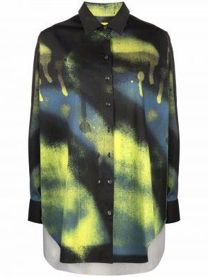 Черная рубашка на пуговицах Andrea Marques