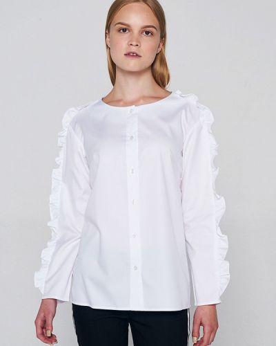 С рукавами белая рубашка Lavlan