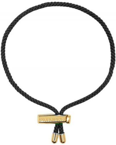 Czarna bransoletka sznurkowa Nialaya