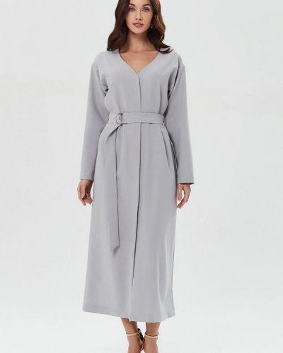 Прямое серое платье Moru