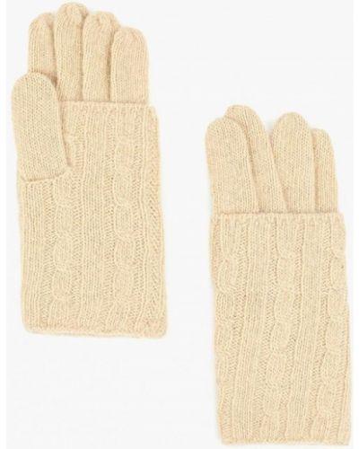 Бежевые перчатки текстильные Fabretti