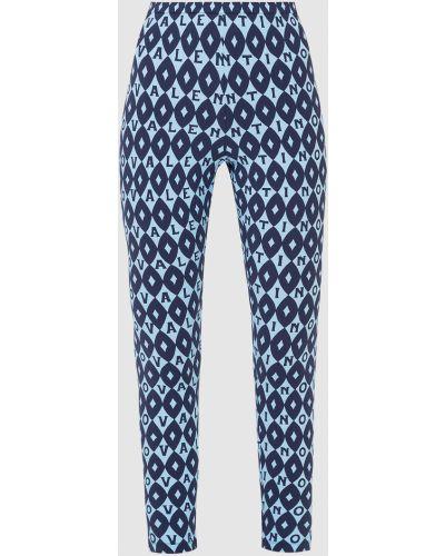 Синие брюки с принтом Valentino