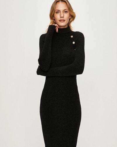 Черное приталенное облегающее платье эластичное Guess Jeans