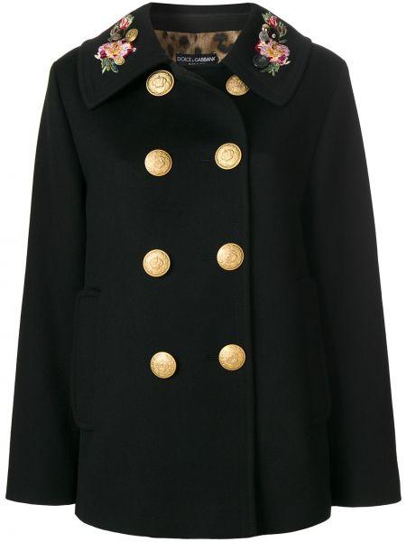 Пальто классическое милитари из ангоры Dolce & Gabbana