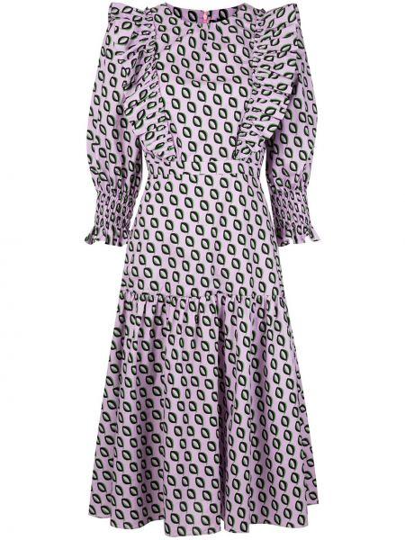 Платье миди на молнии с абстрактным принтом Cynthia Rowley