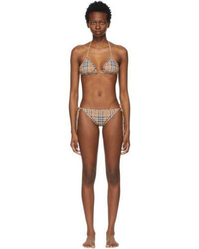 Złoty czarny bikini vintage Burberry