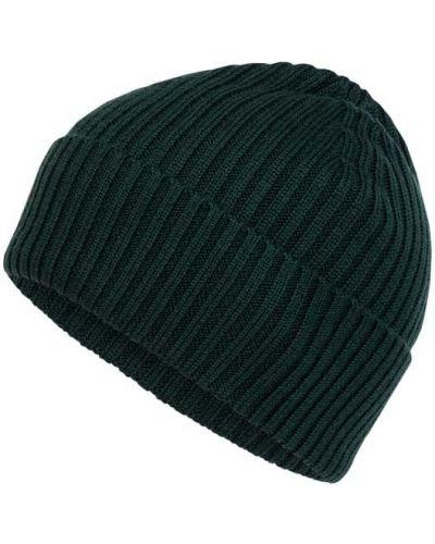 Prążkowana zielona czapka wełniana Lacoste