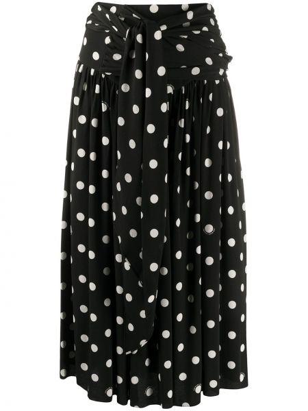 Черная с завышенной талией юбка в горошек Marc Jacobs