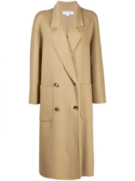 Шерстяное длинное пальто оверсайз с воротником Michael Michael Kors