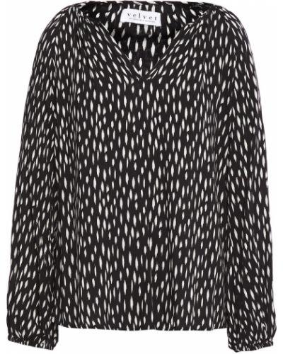 Bluzka z aksamitu - czarna Velvet By Graham & Spencer