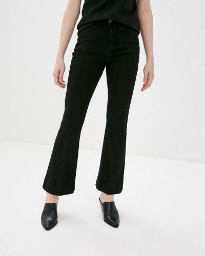 Расклешенные черные широкие джинсы Rinascimento
