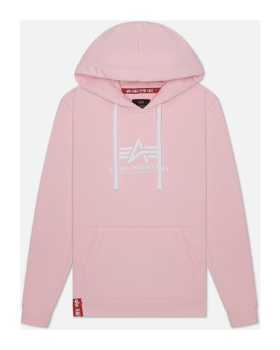 Розовая толстовка Alpha Industries