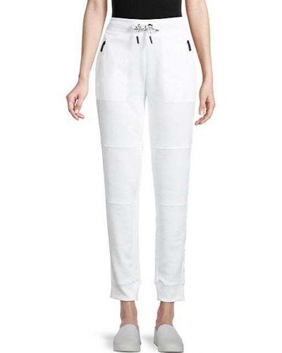 Белые брюки с карманами с манжетами Karl Lagerfeld