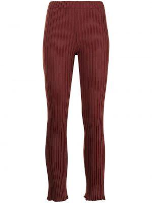 Spodnie z wysokim stanem - bordowe Simon Miller