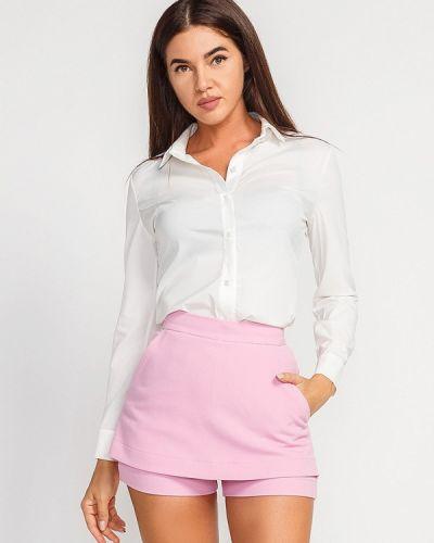 Белая рубашка с длинным рукавом Gepur