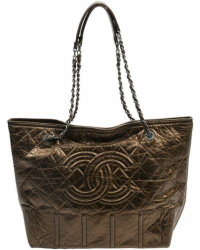Brązowa torba na ramię Chanel Vintage