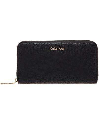 Кожаный кошелек черный прямоугольный Calvin Klein