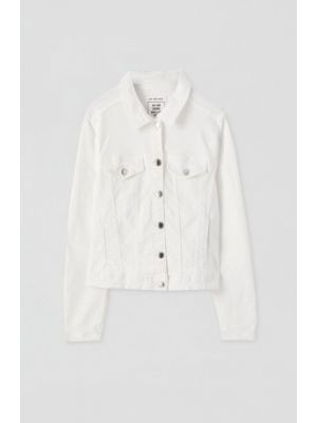 Джинсовая куртка осенняя белая Pull&bear