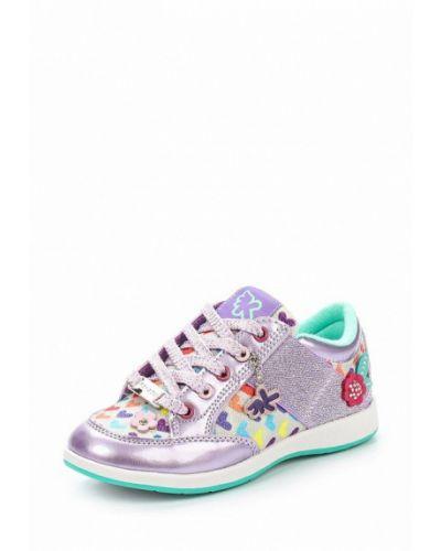 Фиолетовые кроссовки лаковые Kakadu