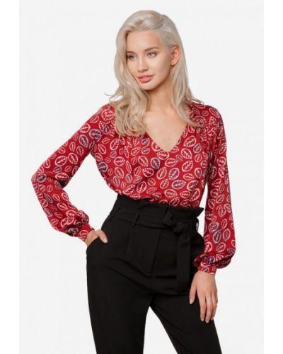 Блузка с длинным рукавом бордовый осенняя Solou