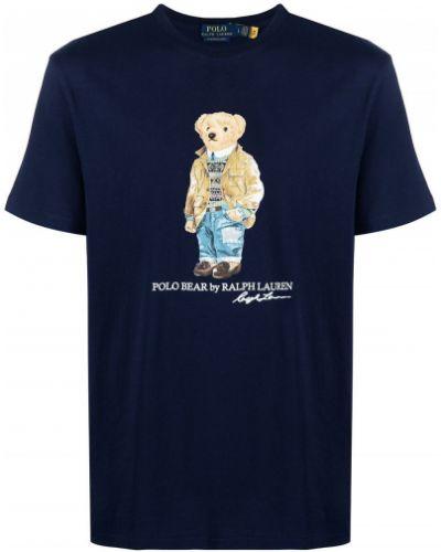 Хлопковая синяя футболка Polo Ralph Lauren