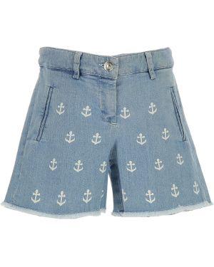 Niebieskie szorty jeansowe bawełniane No. 21