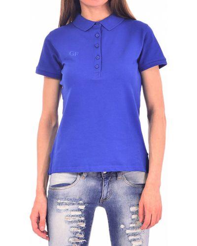 Хлопковый поло - синий Gf Ferre