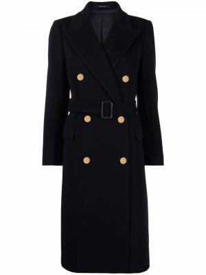 Синее кашемировое пальто Tagliatore