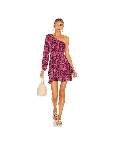 Розовое платье с оборками из вискозы Maaji